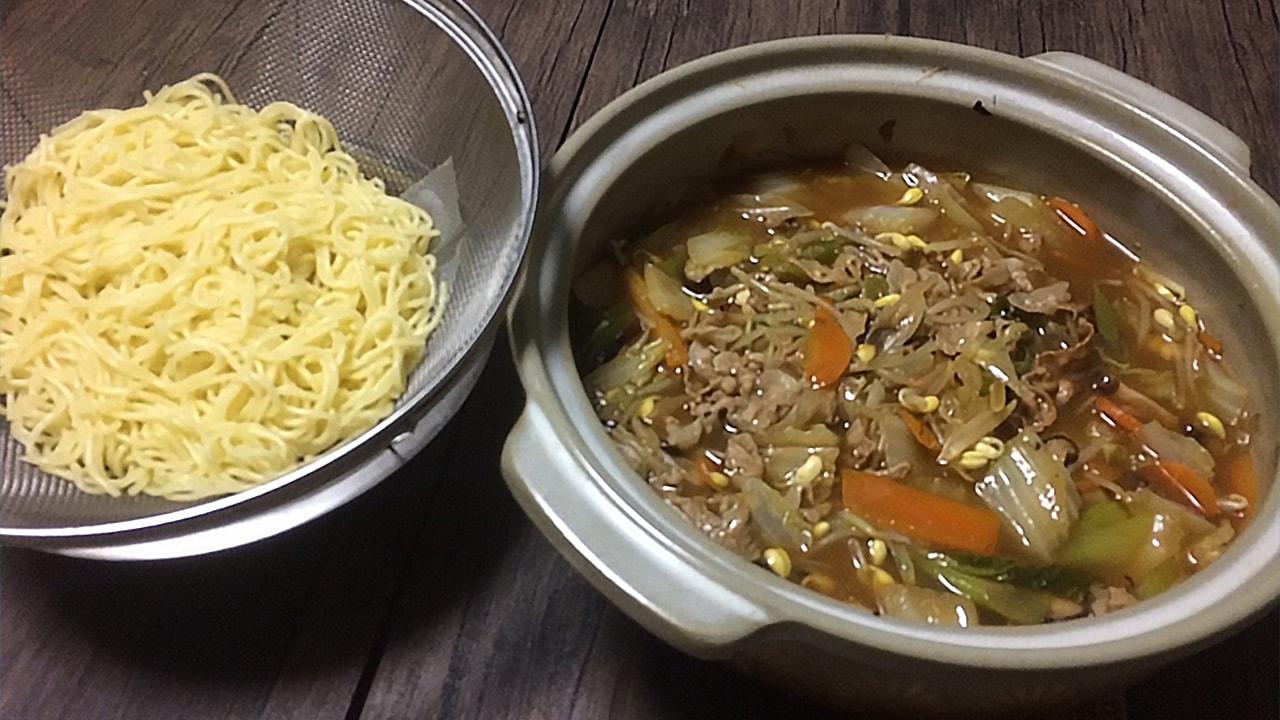鍋とおから麺